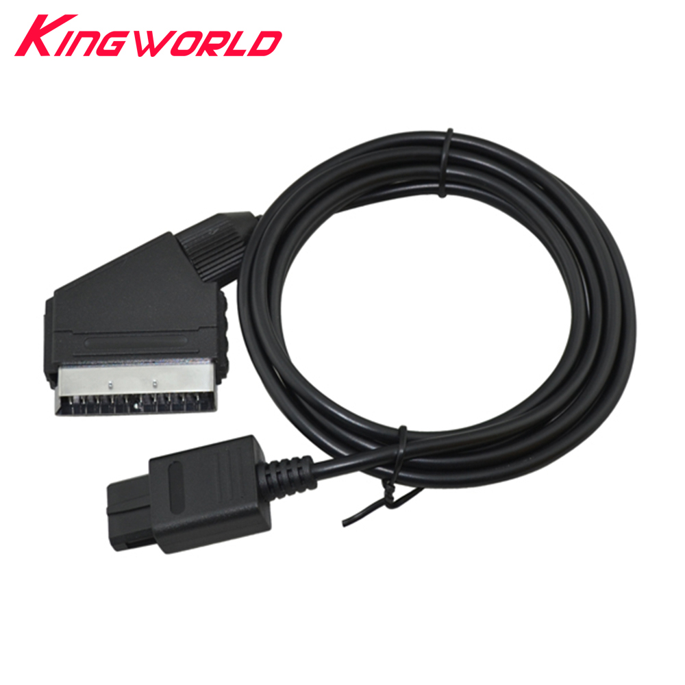 50pcs A/V TV Video Game cable Scart Cable Cord Lead Gaming For Nintendo for Gamecube NGC ...