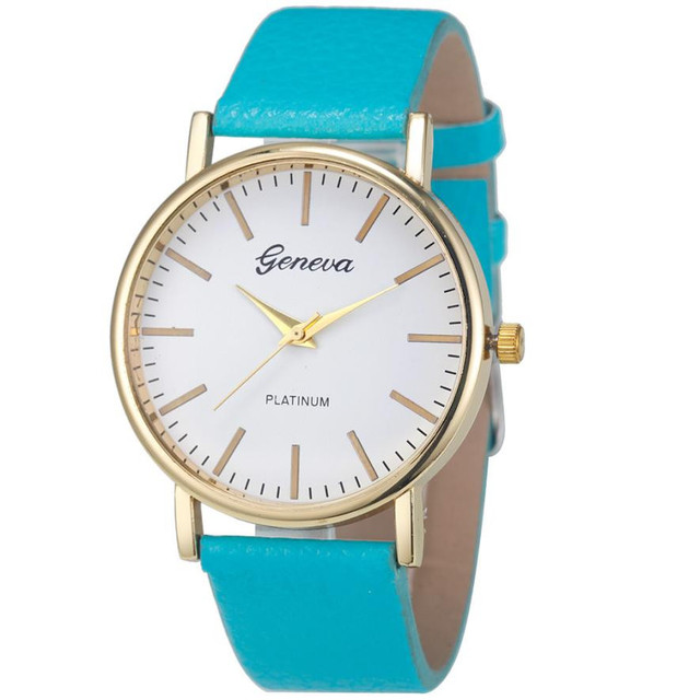 Geneva Fashion Simple Leisure Women Analog Leather Quartz Wrist Watch Watches Relogio Feminino Women Watches Reloj Mujer Bayan