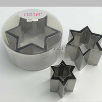 Pastry Tool Six Star shaped Cut Vegetables Fruits Dental Mold Cookie Biscuit Chocolate Cake Mould Cutter Thick Mousse Ring