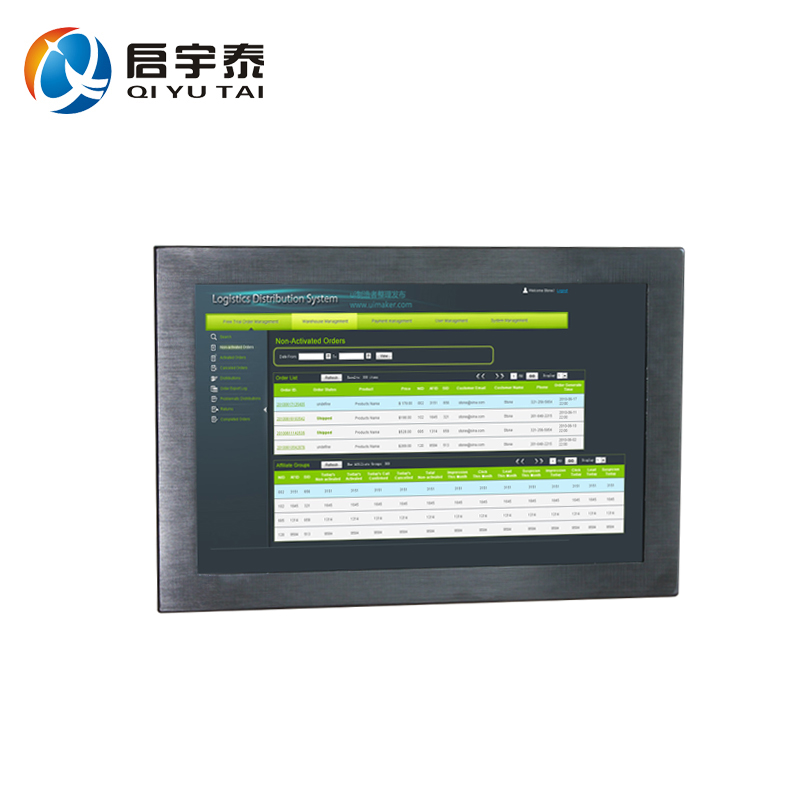12 industrial all in one desktop pc touch Resistive wide screen Resolution 1280X800 4gb ddr3 32g