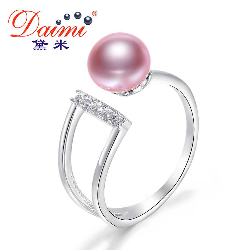 Daimi 8-9MM Freshwater Pearl Ring 6 Color New Style Gift For Women Natural Pearl Ring