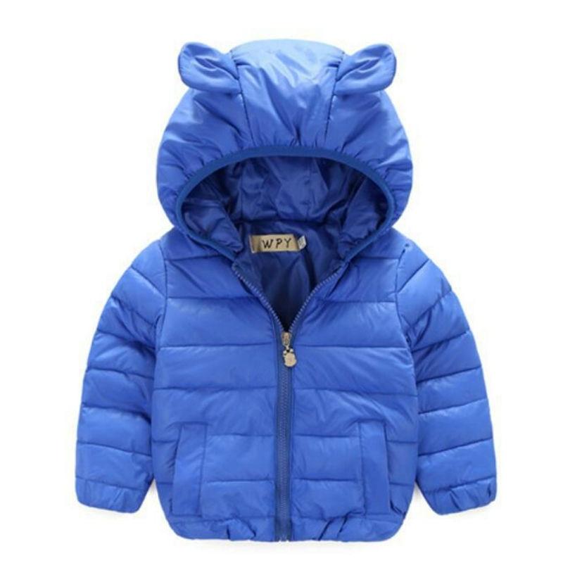 Yeni Varış Sonbahar Kış Bebek Aşağı Ceketler Unisex Bebek Kapüşonlu ceket Sevimli Ayı Ceket çocuklar giyim sıcak kız ve erkek ceket