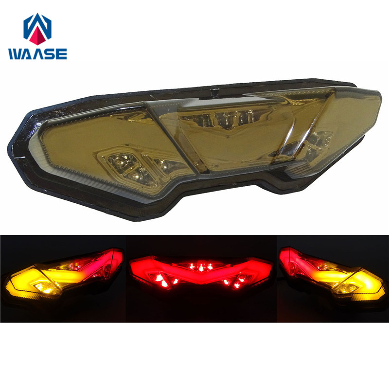 waase For <font><b>Yamaha</b></font> MT07 <font><b>MT</b></font>-<font><b>07</b></font> <font><b>Tracer</b></font> 2016 2017 2018 Rear Tail Light Brake Turn Signals Integrated LED Light image