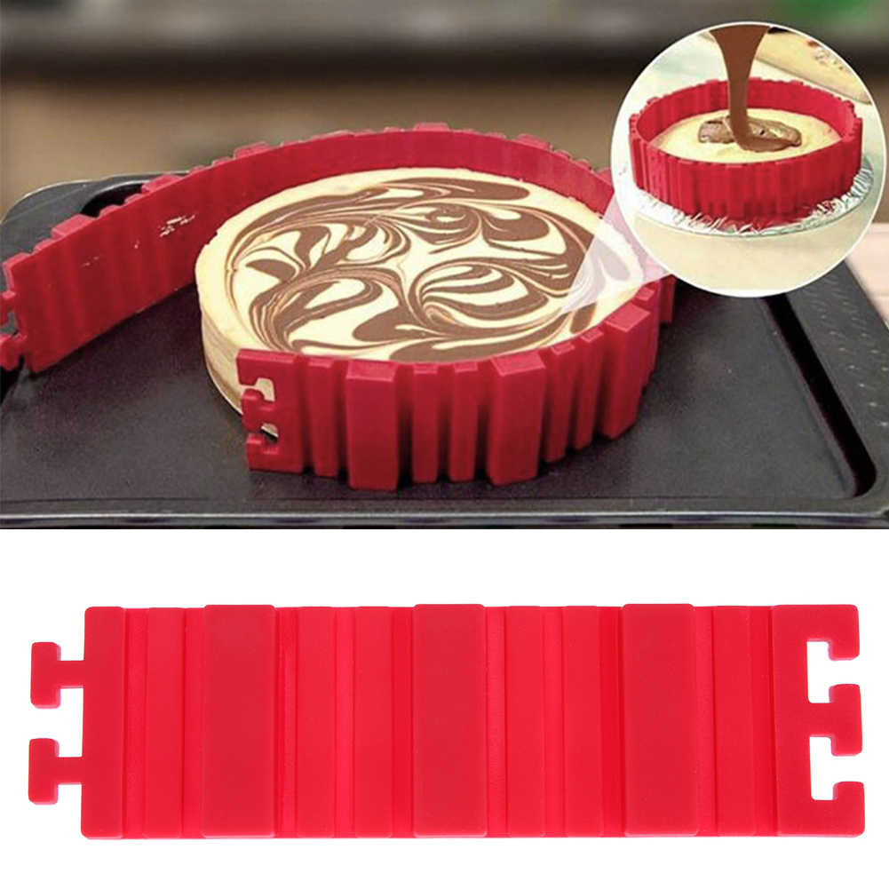 Магия силикона змей DIY торта Еда Класс Регулируемый Форма силиконовые для выпечки Инструменты термостойкие Инструменты для выпечки красный