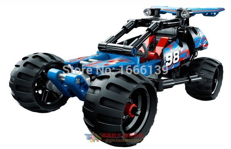 160 pcs Nouveau Guerrier En Cours Off-Roader Racer Pull Back - Concepteurs et jouets de construction - Photo 2