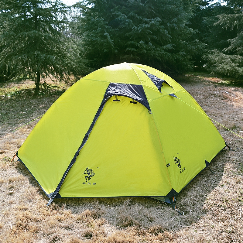 Hillman 3 Person Double Layers Camping Tent Ultralight Hiking Rainproof Outdoor Waterproof Traveling Tent Aluminum Poles