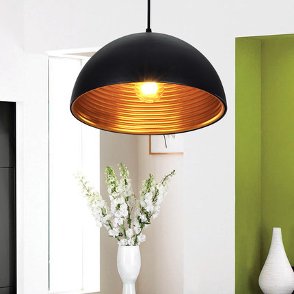 Modern Minimalist Black Semicircle Cover Single Head iron pendent lamp E27 110/220v Creative Personality Bar Cafe Bar Lamp A166