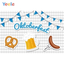 Yeele Oktoberfest Festivals Carnival Party Photo Backgrounds Toast Beer Sausage Custom Photography Backdrops For Studio
