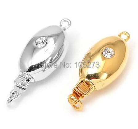 With zirconium oval insert clasp 22 x9mm manual accessories materials high grade natural pearl crystal necklace