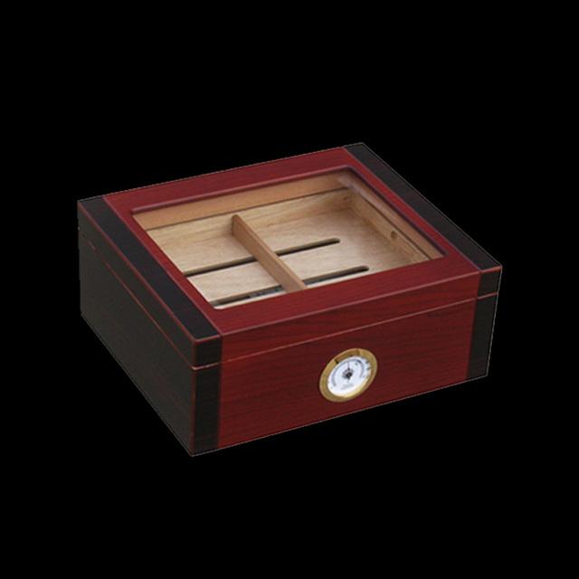 Luxury  Cedar Wood Cigar Humidor Pretty Storage Box
