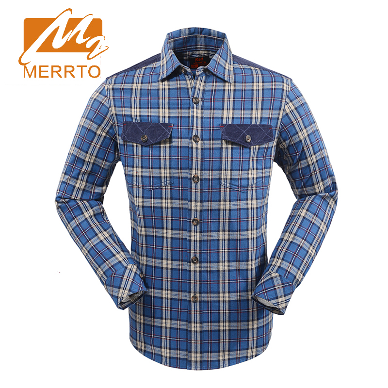 2017 Merrto Mens Outdoor Hiking Shirts Breathable Camping Climbing Sports Shirts Quick Dry Shirts For Male Free Shipping MT19161 2017 merrto mens hiking boots waterproof breathable outdoor sports shoes color black khaki grey for men free shipping mt18638