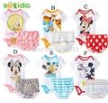 O envio gratuito de 2016 do bebê meninos/meninas macacões macacões + pants2pcs triângulo terno de verão Do Bebê 6 projetos Dos Desenhos Animados