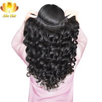 Aliafee Brazilian Loose Wave 100 Human Hair Extension 1 PC 100g Hair Weaving Can Be Dyed