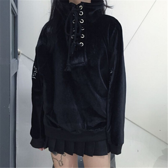 2017 new Tokyo Japan Harajuku girls street fashion women than in the winter warm Pullover Hoodie casual velvet embroidery 3