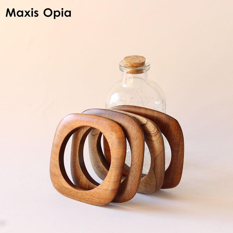 1 Piece Size 9.5 CM Solid Wood Special Color Wooden Buckles Button Fashion Handbag Acessories Wood Bag Handle Purse Frame Buckle