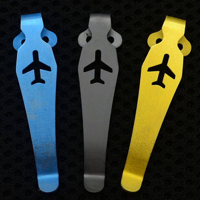 1piece Plane TC4 Titanium Pocket C81 Knife Clip EDC Belt Flashlight K Sheath Sheath Multi Tools