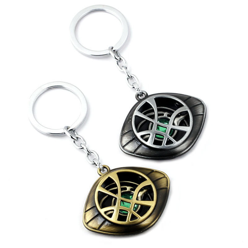 Movie Avengers Keychain Necklace Set Infinity War Character Doctor Strange Alloy Crystal Pendant Keychain for Women Men Gift in Key Chains from Jewelry Accessories