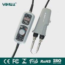 YIHUA 938D 10V/ 220V EU/US/GB/AU PLUG Portable Hot tweezers Mini Soldering Station Hot Tweezer for BGA SMD repairing