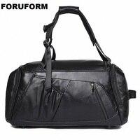 Большой винтажный Ретро вид из натуральной кожи вещевой мешок выходные сумки мужские сумки из натуральной воловьей кожи дорожная сумка