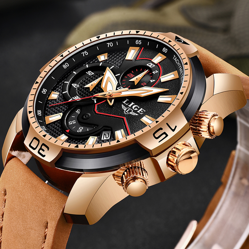 2019 New LIGE Fashion Men Watches Top Brand Luxury Quartz Sport Watch Men Casual Leather Waterproof Clock Male Relogio Masculino2019 New LIGE Fashion Men Watches Top Brand Luxury Quartz Sport Watch Men Casual Leather Waterproof Clock Male Relogio Masculino