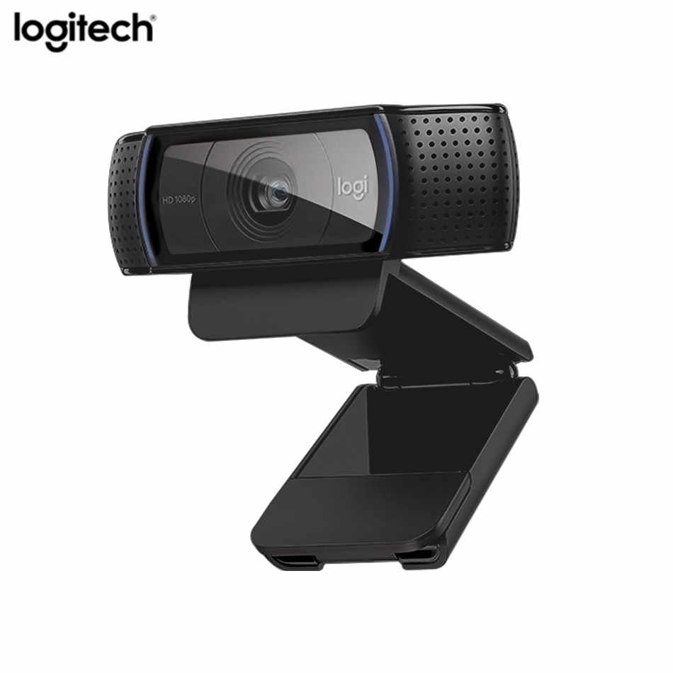 Logitech C920e HD Webcam Video Rekaman USB Kamera HD 1080 P Kamera Web untuk Komputer Logitech C920 Upgrade versi