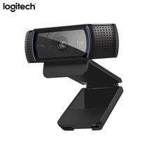 Logitech c920e hd webcam vídeo chat gravação usb câmera hd inteligente 1080p câmera web para computador logitech c920 versão de atualização