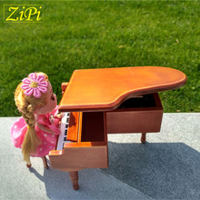 New Wooden Wood Piano Music Box Home Decoration Creative Gifts for Princess Love Girl Valentine's Day Christmas Birthday gift