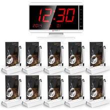 KERUI Wireless Sistema de Llamada para el Restaurante Cafetería, 10 Pagers, 1 Terminal