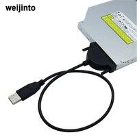 WEIJINTO 100 sztuk 13Pin USB 2.0 do Mini Sata II 7 + 6 Adapter konwerter Kabel do Laptopa CD/DVD ROM Drive szybki statek dhl EMS