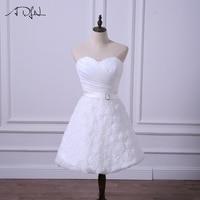 ADLN New Short Wedding Reception Dresses Cheap Little White Dress Bridal Gown Simple A Line Lace