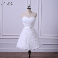 ADLN New Short Wedding Reception Dresses Cheap Little White Dress Bridal Gown Simple A Line Lace