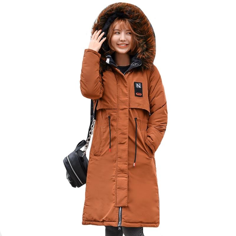 Both Two Sides Can Wear Women Winter Jacket Hooded With Fur Collar Womens Outwear Coat Long   Parka   Women's Fashion 2019   Parkas