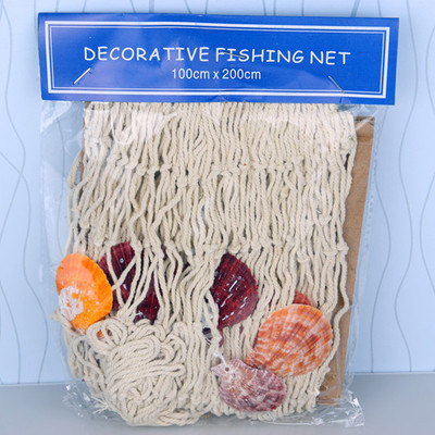 Mediterranean 3D Wall sticker Nautical Home Furnishing jewelry nets with Natural shellHanging Decorative Home background Decor in Party DIY Decorations from Home Garden