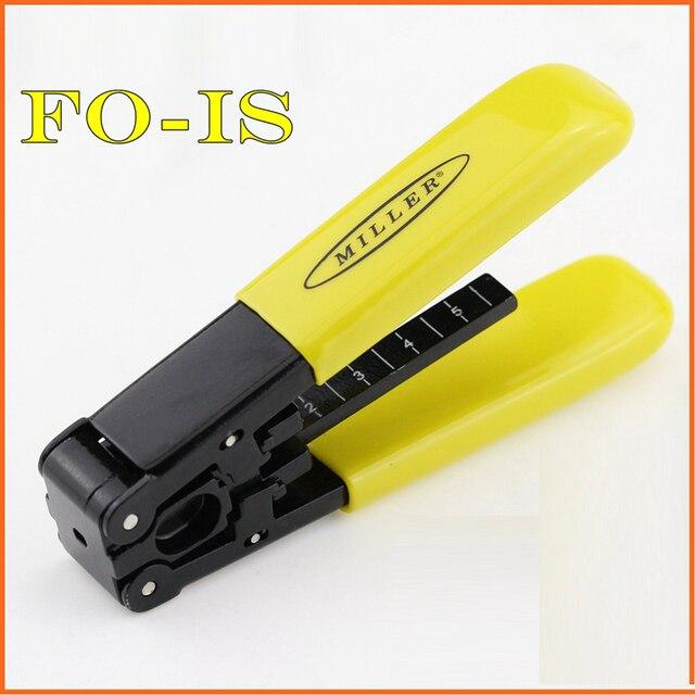 FO IS ミラーデュアルポート被覆線ストリッパーファイバのストリッピングプライヤー FO IS ケーブルストリップファイバピグテールパッチコードはさみ