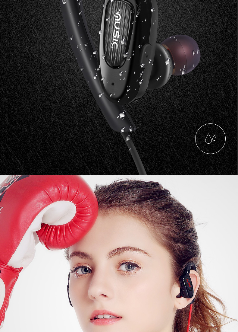 TCunPT New S5 Sports In-Ear Wireless Bluetooth Earphone Stereo Earbuds Headset Bass Earphones with Mic for IPhone8 Samsung Phone
