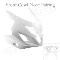 Unpainted Upper Front Cover Cowl Nose Fairing for GSXR 600 750 2004 2005, Injection Mold ABS Plastic