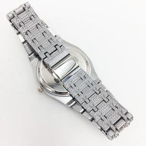 Image 4 - DropShipping חדש 2020 בלינג יהלומי שעון גברים אייס מתוך יוקרה Mens קוורץ שעונים איש שעוני יד כסף פלדת Relogio Masculino