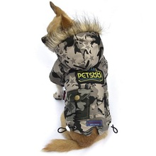 New Pet dog Cotton Warm Camouflage Coat Cat Dog Puppy Winter Padded Coat Clothes Jacket XS S M L XL