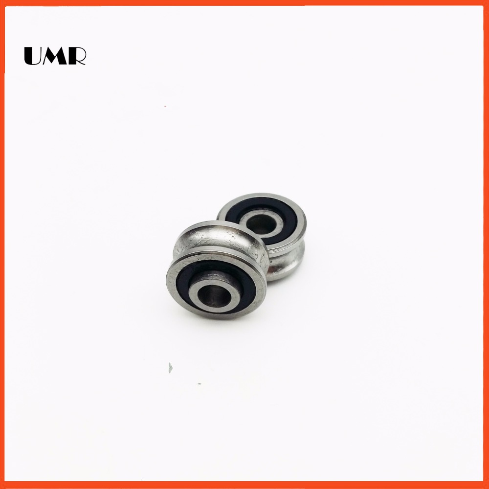 SG15-10 2RS for 10 mm 6MM shaft U Groove pulley ball bearings 5*17*8*9.75 mm Track guide roller bearing SG5RS sg15 10 2rs for 10 mm 6mm shaft u groove pulley ball bearings 5 17 8 9 75 mm track guide roller bearing sg5rs