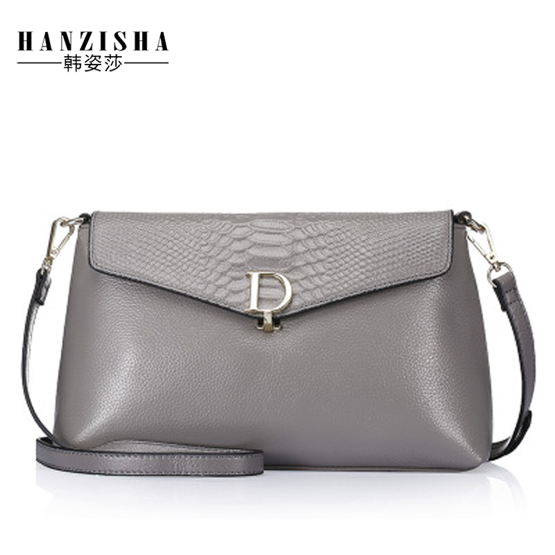 2018 Genuine Leather Women Messenger Bag Serpentine Pattern Fashion Brand Bag Women Shoulder Bag Chains Female Crossbody Bag