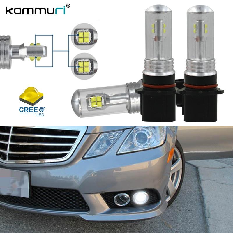 Error Free P13W SH23W LED Daytime Running Light Bulbs For 2010 to 2011 Mercedes W212 C207 A207 E350 E550, 6000k White KAMMURI