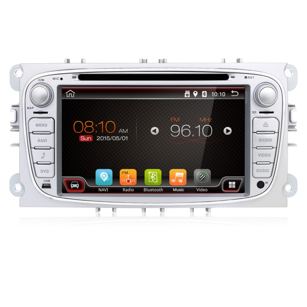 Two Din 7 Inch Car DVD Player for FORD Mondeo S-MAX C-MAX Galaxy FOCUS 2 Radio FM GPS Navigation Head Unit