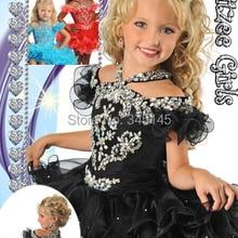 Модное и популярное Пышное Платье с цветочным узором для девочек Бальные платья, отделанный бисером ярусный стиль на молнии сзади, платье с бретелькой на шее для торжественных случаев