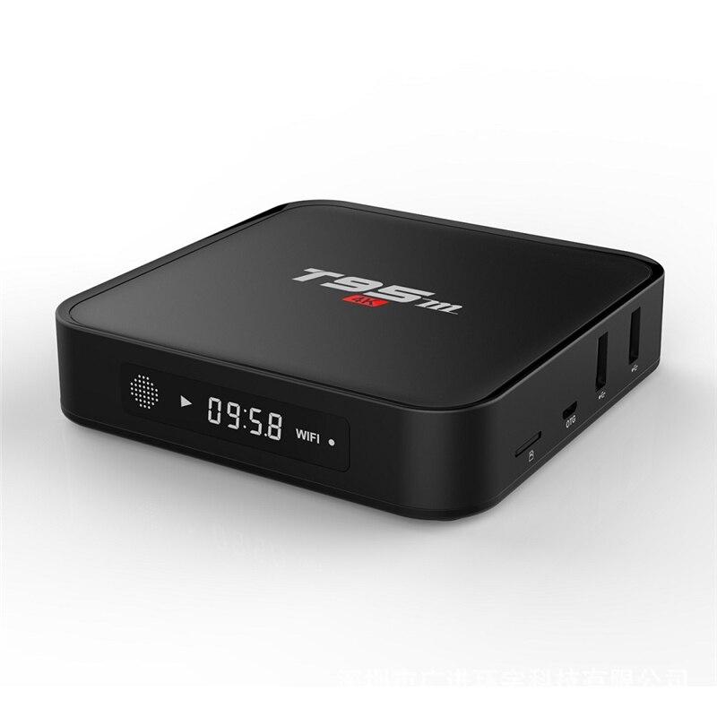 ФОТО T95M Android 6.0 Smart TV Box Quad Core Amlogic S905X UHD 2K*4K Media Player KODI IPTV Set top box 1G/8G 2G/8G