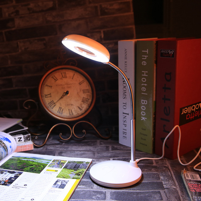 Hands-free Loupe Flexible Magnifying Glass with Light Versatile 2 in 1 18 Leds Lighted Desk Lamp with Clamp and Base Holder
