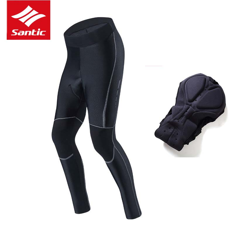 Santic Cycling Pants Men 4D Padded Breathable Quick Dry Road Bike Tights Long Pants Outdoor Sports Bicycle Trousers Ciclismo цена