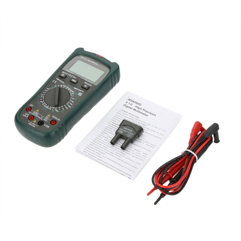 MASTECH MS8260D Digital Multimeter 4 1/2 Non-contact AC/DC Voltage Current Frenquency Tester Detector with Transistor Check  mastech ms6818 portable instruments professional cable locator wire tracker pipelines detector tester ac dc voltage 12 400v