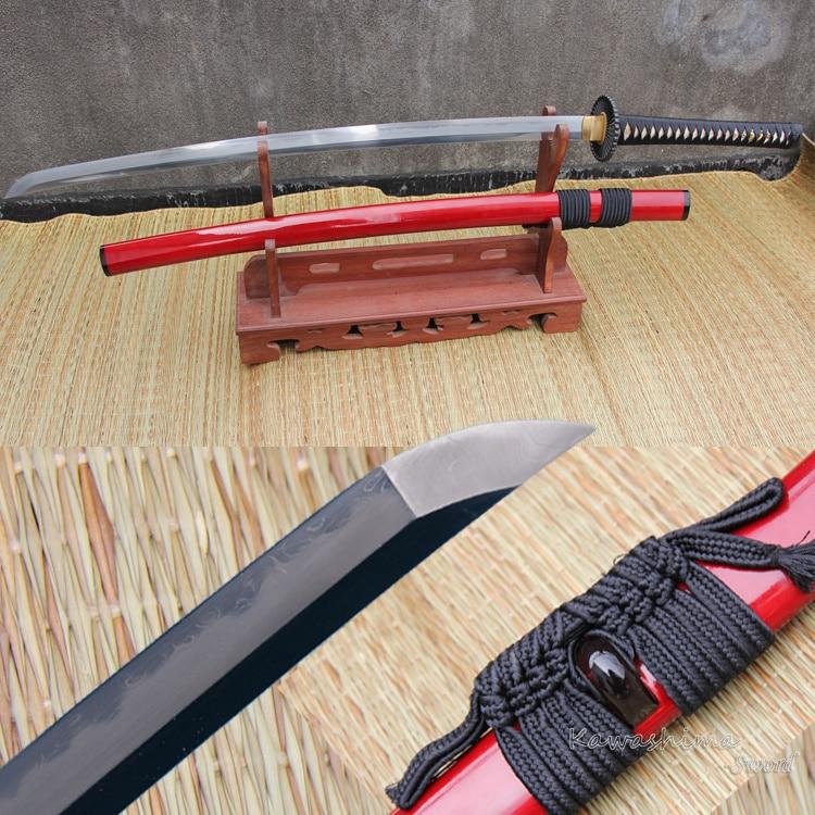 شمشیر درجه Katana ژاپنی Soshu Kitae دمشق فولادی جعلی تاشو 2400 لایه خشت با وضوح آماده برای نبرد