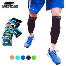 Compression Running Leg Sleeve Calf Knee Support Cycling Leg Warmers Men Women Fitness Sport Kneepad Muscle Football Shin Guard(China)