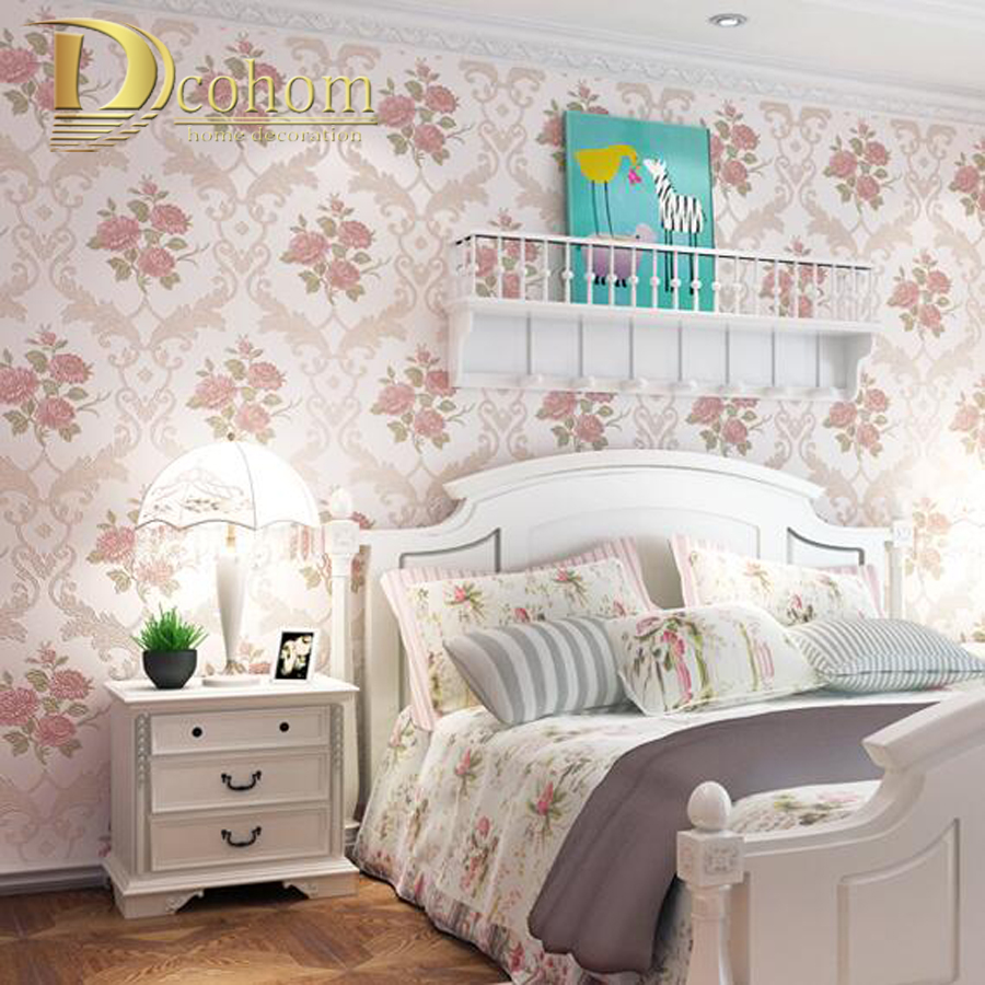 Romantic Pastoral Beige Pink Flower 3D Stereoscopic Wallpaper For Walls Bedroom Decor Background Floral Wall paper Rolls electric vibrating slimming belt body shaper fat burning massage belt weight loss losing effective mini beauty